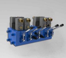Электро гидравлические CMJF20 направленного клапана управления для 80 / 210 л/мин